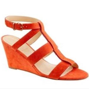 J. Crew Leather Strappy Open Toe Wedges